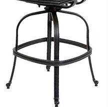 Patio bar stool arml-ess cast aluminum patio furniture sunbrella seat cushions image 4