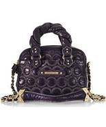 JUICY COUTURE Cate Quilted Purple Nylon Leather Crossbody Bag (MAKE AN O... - $192.65
