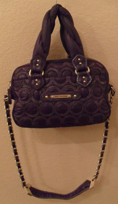 JUICY COUTURE Cate Quilted Purple Nylon Leather Crossbody Bag (MAKE AN OFFER)