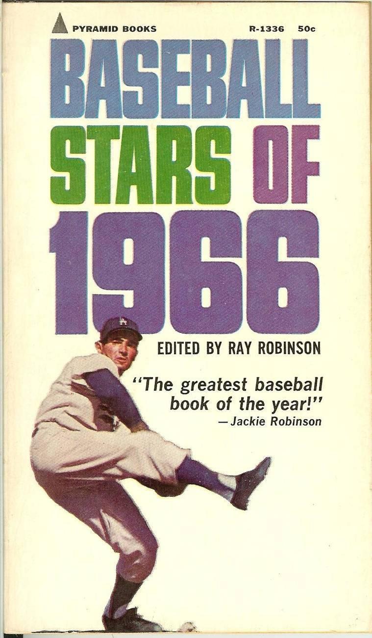 baseball stars of 1966 dodger sandy koufax on cover near mint shape
