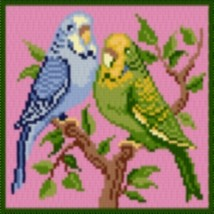 Latch Hook Rug Pattern Chart: PARAKEETS - EMAIL2u - $5.75