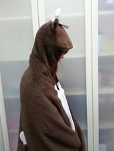 Cute Brown Deer Animal Soft Comfortable plush Costume Cloak Shawl Cape Wrap T16 image 2