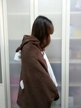 Cute Brown Deer Animal Soft Comfortable plush Costume Cloak Shawl Cape Wrap T16 image 3