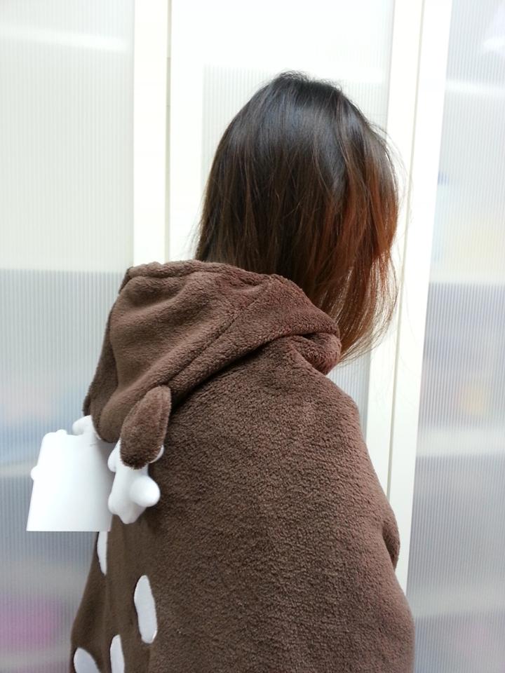 Cute Brown Deer Animal Soft Comfortable plush Costume Cloak Shawl Cape Wrap T16 image 4