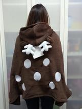 Cute Brown Deer Animal Soft Comfortable plush Costume Cloak Shawl Cape Wrap T16 image 5