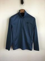 The North Face Mens Tech Glacier Jacket 1/4 Zip M Medium Navy Blue Fleece - $39.59