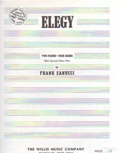 Elegy 2 Pianos/4 Hands Frank Sanucci NFMC Selection