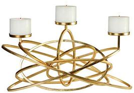 Uttermost Mishka Metallic Gold Leaf Candelabra Candle Holder - $514.80