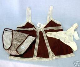 New sz S Camisole String Bikini Panties brown animal Charter Club Morgan... - $16.00