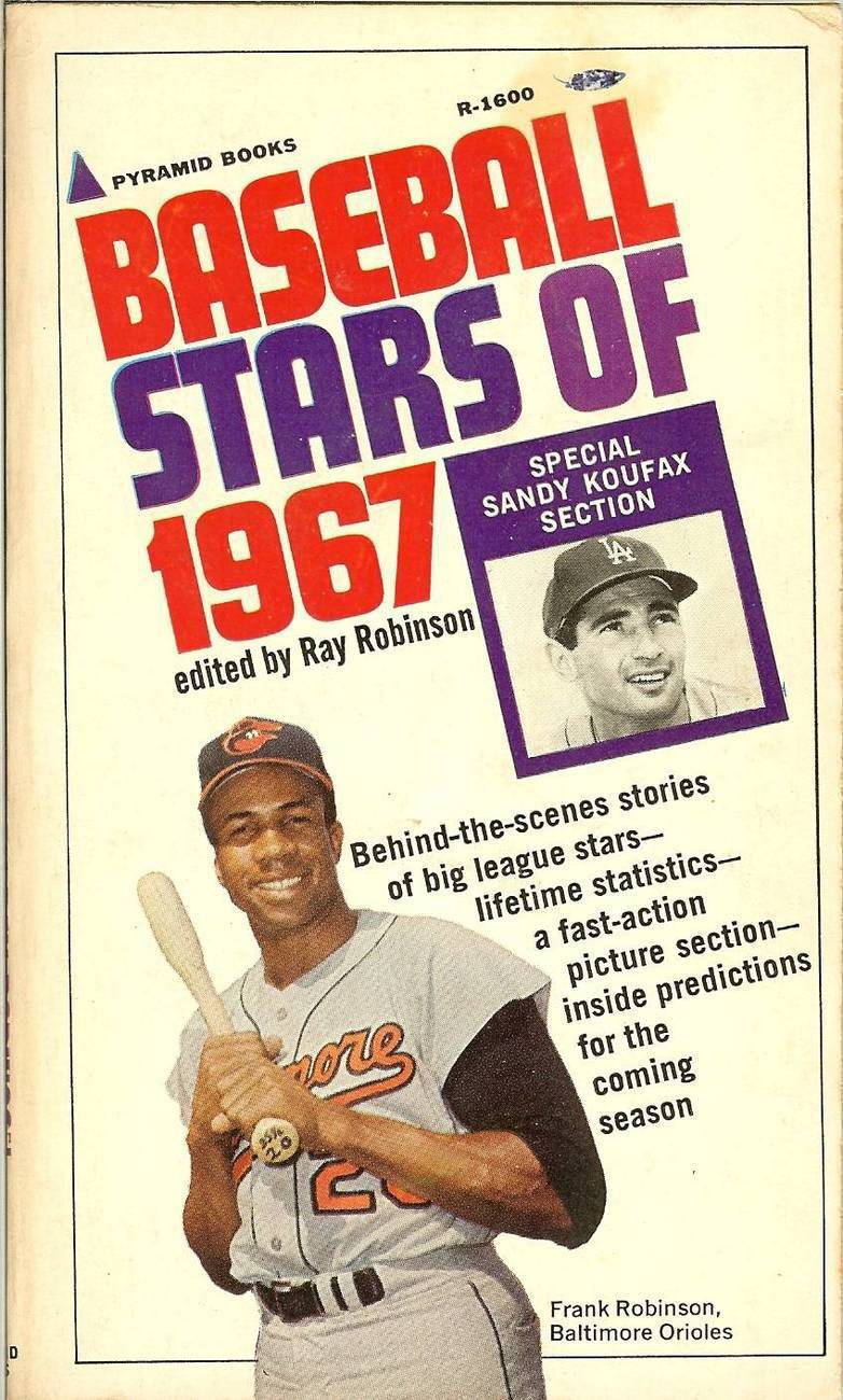 baseball stars of 1967 sandy koufax frank robinson on the cover