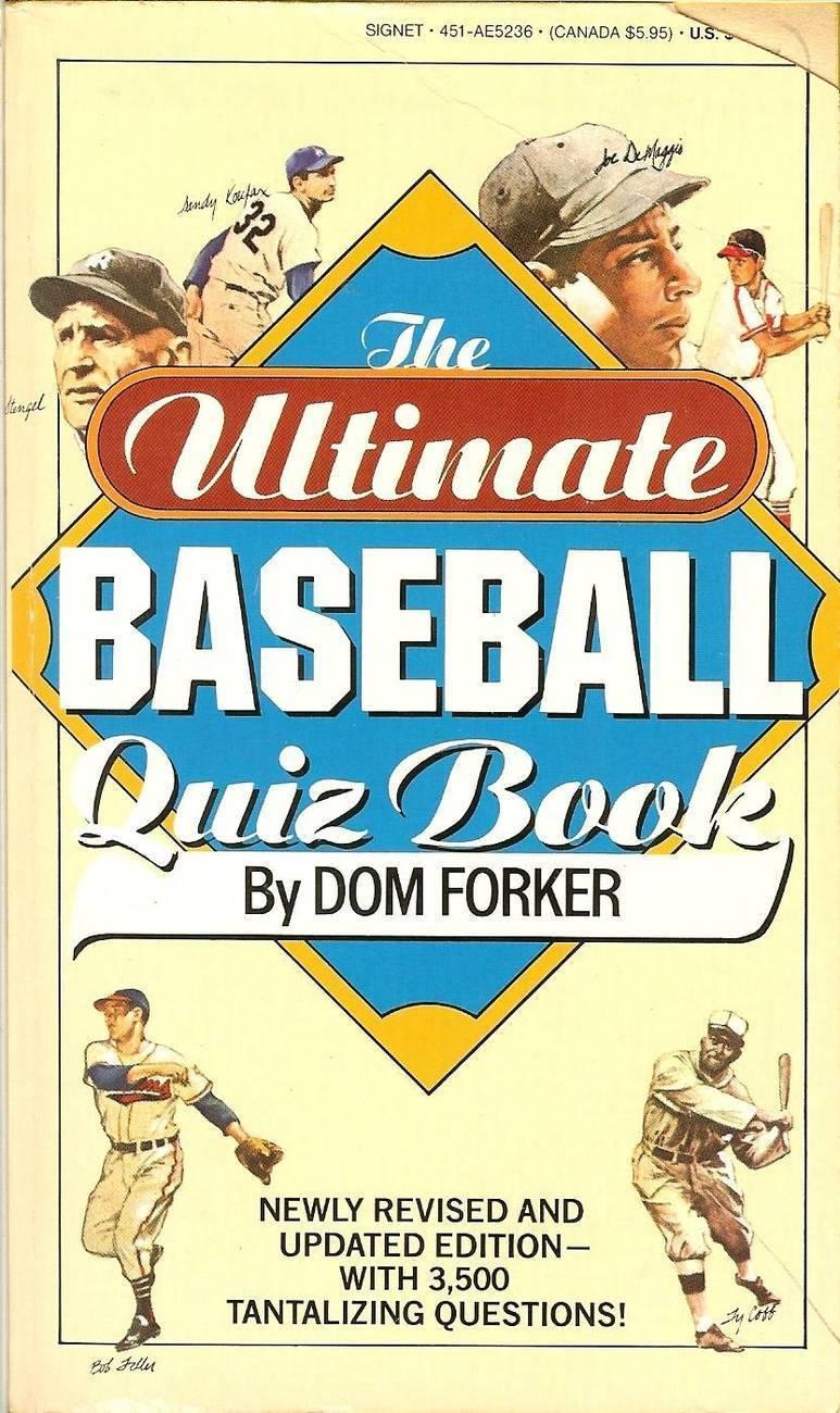 1988 the ultimate baseball quiz book sandy koufax bob feller ty cobb cover