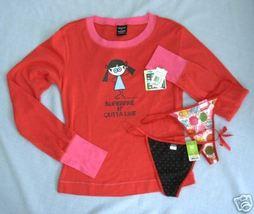New DAVID GOLIATH sz M Superfine Outta Line Pajama Top 2 G String Panties - $14.99