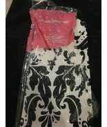 Black And White Toile Pattern Stretchable Bookcover Book Cover Reusable New - $4.99
