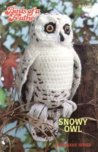 Snowy Owl Crochet Pattern Birds Of A Feather Backwoods Series Annie's Attic - $12.25