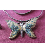Butterfly Necklace 15 inches Vintage - $7.59