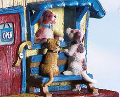 Novelty Puppy Pet Shop Design Resin Birdhouse