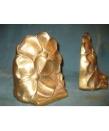 Brass bookends flowers - $14.95