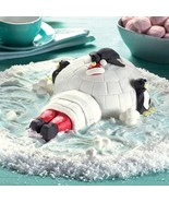 Igloo With Santa And Penguins Christmas Silicon... - $15.50
