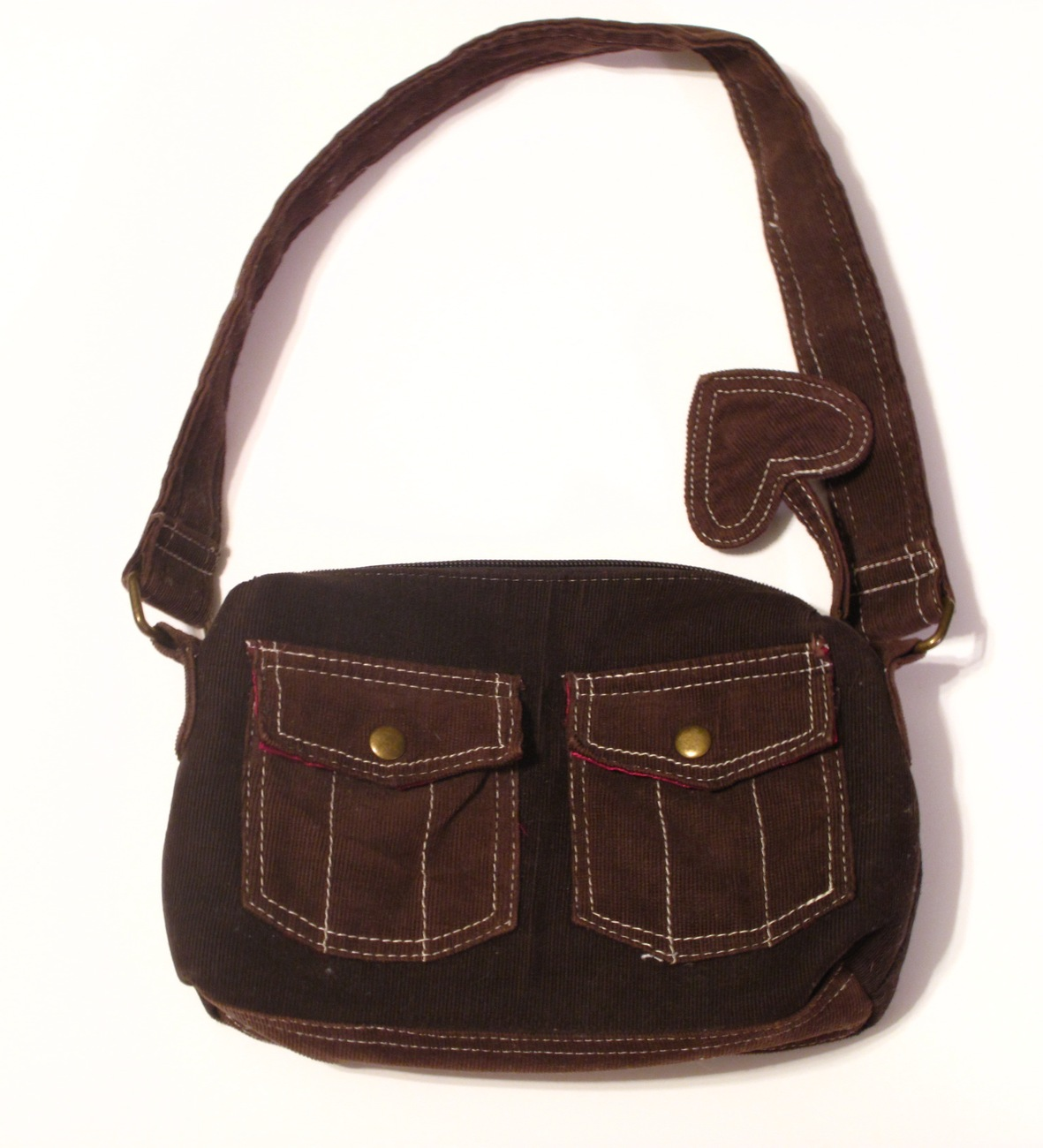Primary image for Girls Brown Corduroy Satin Lined Purse