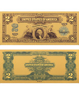 Limited 99.9% 24k Gold Foil Polymer Collectors 1899 US $2 with Certifica... - $19.00