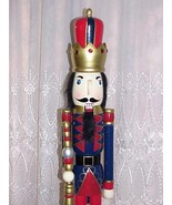King Nutcracker Red Pants Christmas Decoration 3Ft Tall - $75.19