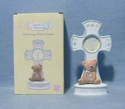 Small Blessings Baptism Photo Frame Teddy Bear NIB Russ Baby - $9.99