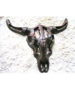 Cast Iron longhorn steer skull Rustic southwest decor bz - $24.98