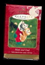 Hallmark 2001 Mom & Dad Cats Stocking Ornament in Box - $6.95