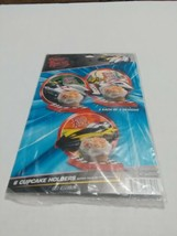 PARTY EXPRESS SPEED RACER 6 CUPCAKE HOLDERS 2 EACH OF 3 DESIGNS NEW SEALED - $5.89