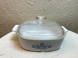 Corning Ware Blue Cornflower 2-Quart Casserole Dish A-2-B With Lid A-9-C - $13.98