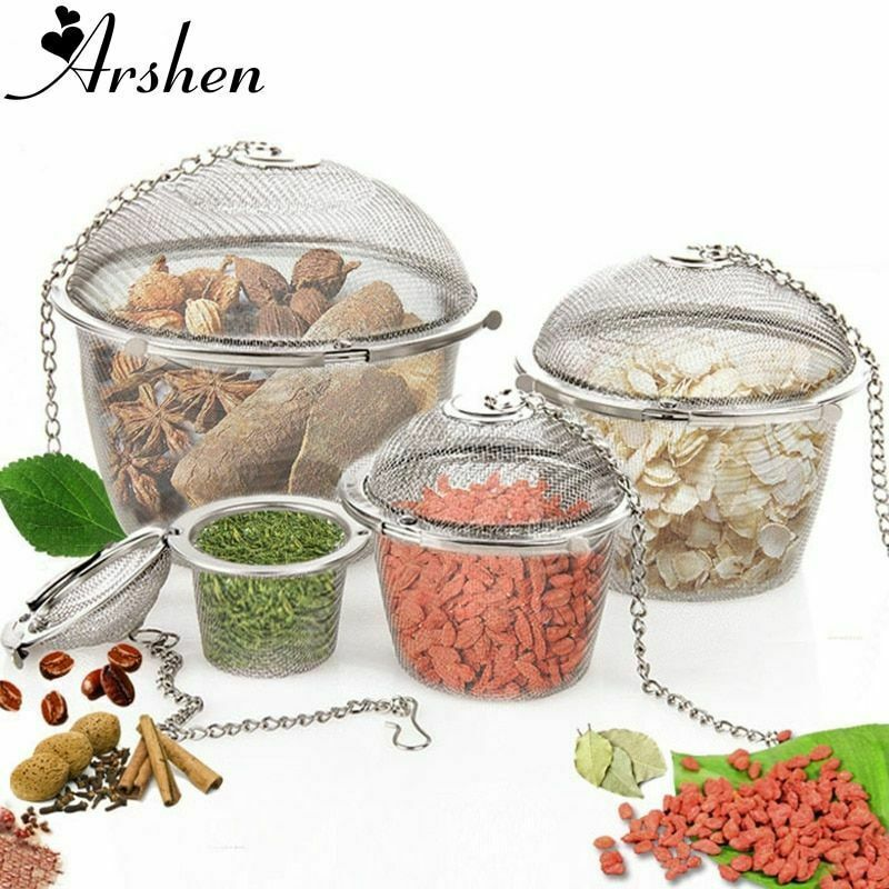 Arshen Tea Infusers Chained Lid Stainless Steel Mesh Ball Filter Strainer Tools