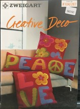 Zweigart Needlework Ideas Booklet #287 Creative Decor Pillows Cross Stit... - $9.98