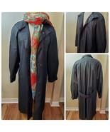 Worthington Essentials Women's Rain Jacket Trench Coat Black Removable L... - $84.53