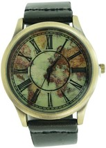 GENEVA PLATINUM 12464312-BLACK DISTRESSED FAUX LEATHER ANTIQUE PRINT ROM... - $29.99