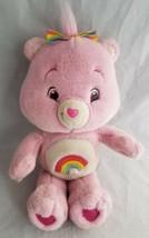 "Vintage Kenner Care Bears Pink Rainbow Cheer Bear 13"" Plush Stuffed Animal - $18.84"