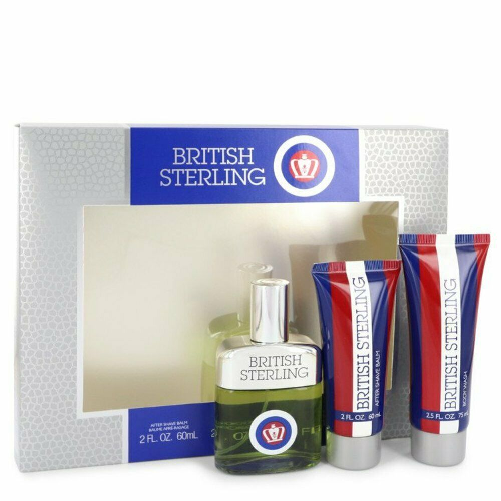 Primary image for British Sterling By Dana Gift Set -- 2.5 Oz Cologne Spray + 2.5 Oz Body Wash + 2
