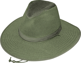 Henschel Aussie Breezer Soft Mesh Crown Made In USA Khaki Natural Earth ... - $52.00