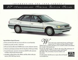 1993 Subaru LEGACY 25th ANNIVERSARY EDITION sales brochure sheet 93 - $8.00