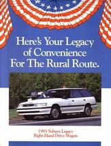 1993 Subaru LEGACY RHD Postal Wagon brochure catalog folder US - $8.00