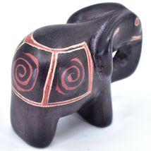 Crafts Caravan Hand Carved Black Brown Soapstone Elephant Figurine Made in Kenya image 4