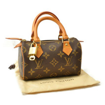 LOUIS VUITTON Monogram Mini Speedy Hand Bag M41534 LV Auth sa2042 - $780.00