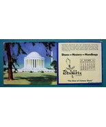 INK BLOTTER 1951 - Jefferson Monument & AD for Weschlers Shoes Erie Penn... - $4.49