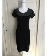 Grayse Turquoise Bead Embellished Sheer Sleeve Kelly & Marie Black Dress... - $89.95