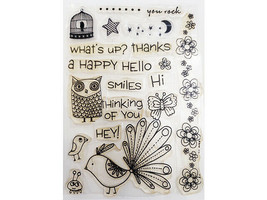 Hello, What's Up, Thinking of You and More Sentiments Clear Stamp Set