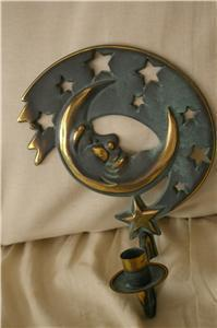 PartyLite Moondance Sconce Brass Party Lite