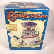 Great American Musical Merry Go Round Carousel Corded Novelty Phone Wind Up image 10