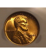 1944 - P Lincoln Wheat Cent NGC Red (MS66)  - $29.00