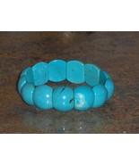 Reconstitued Blue Turquoise Bangle Bracelet  - $14.97