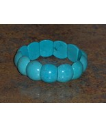 Reconstitued Blue Turquoise Bangle Bracelet  - $9.97