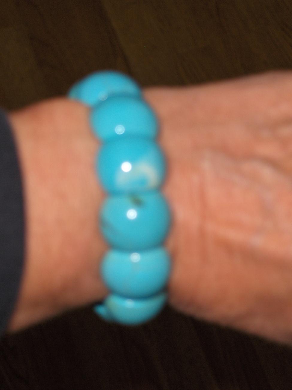 Reconstitued Blue Turquoise Bangle Bracelet